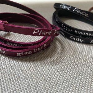 Accessories - Leather wrap Motivational Bracelets (3 total)